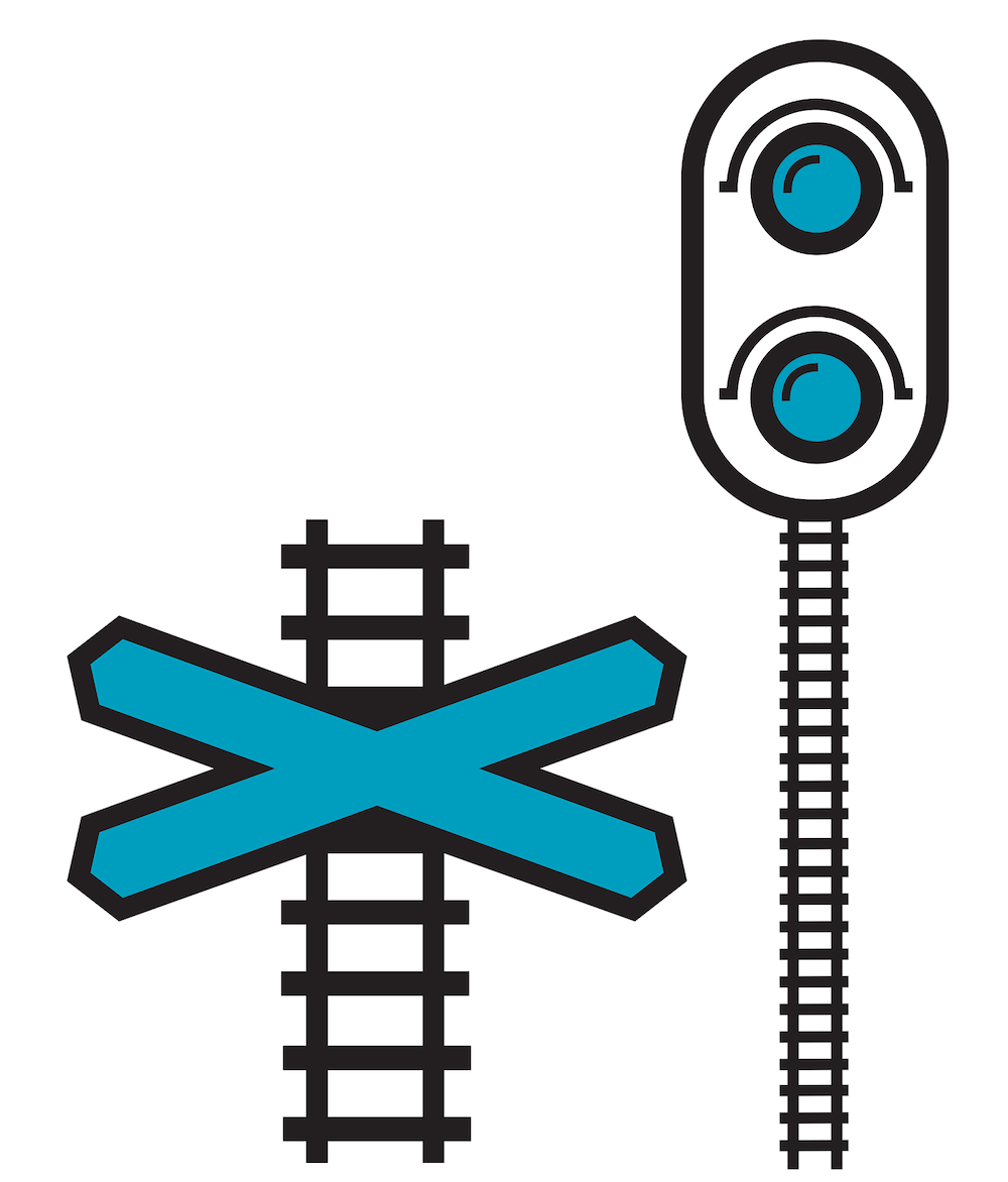 level crossing icons